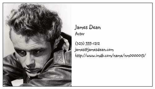 Jamesdeanbusinesscard