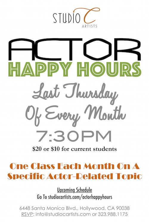 SCA Happy Hours Poster