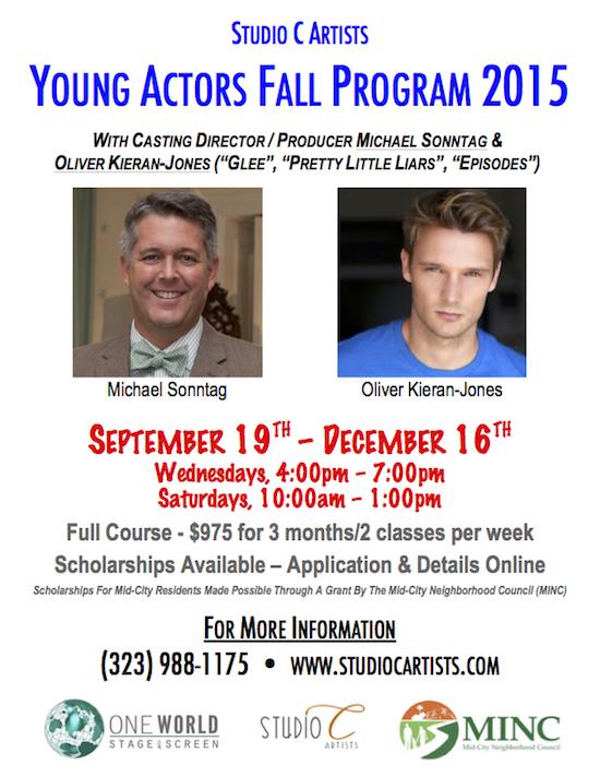 Young Actors Fall Program 2015 Sign